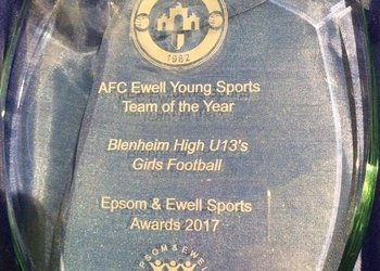 Blenheim pupils scoop two awards at the Epsom and Ewell Sports awards