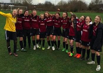 Under 14 girls' football team success!