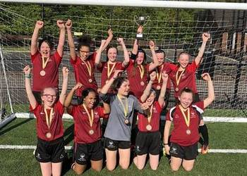 Year 7 girls win the Surrey Football Cup!