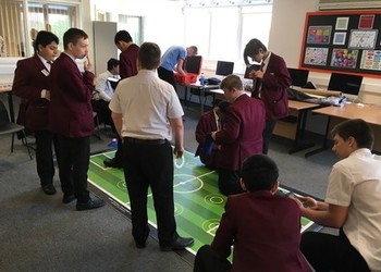 Year 9's take part in Robotic Penalty Shoot Out!