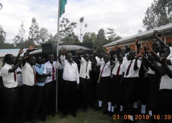 Our link school in Kenya have their new water tank!