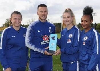 Sixth Form Football Academy Students meet a sporting hero