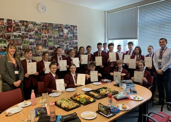 Year 10 and 11 students receive their Duke of Edinburgh awards