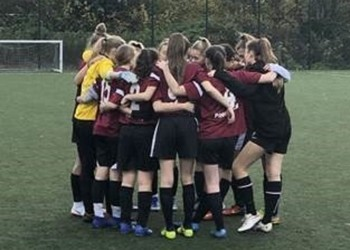 Under 16 Girls' Football Team Win Their 50th Unbeaten Game
