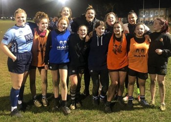 Chloe campaigns for girls' rugby at Blenheim!