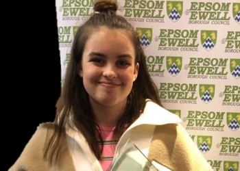 Chloe is the Sports Person Award Winner for Epsom & Ewell Young Champions!