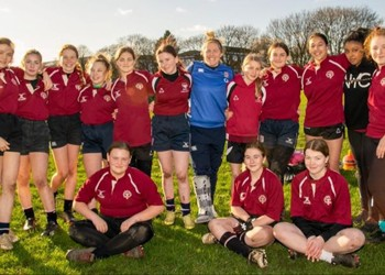 Year 7 girls' rugby team train with Wolrd Cup winner Marlie Packer!