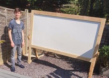 Tyler has made an Outdoor Cinema!