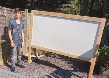 Tyler has made an Outdoor Cinema!