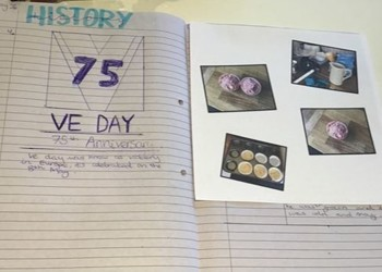 Students celebrate VE Day with home baking